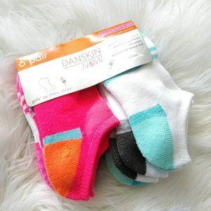 6 Danskin Cushioned Sole Y-Heel Socks
